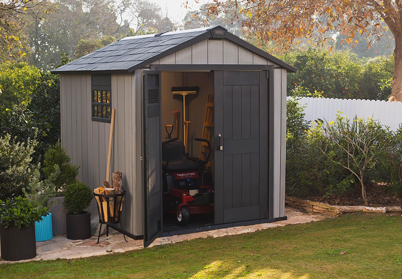 keter oakland 759 garden shed in brownish grey. Black Bedroom Furniture Sets. Home Design Ideas