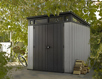 Image of Keter Artisan 7x7 Pent Shed in Brownish Grey