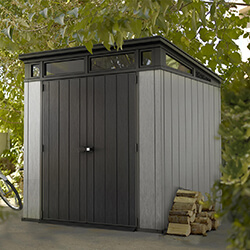 Small Image of Keter Artisan 7x7 Pent Shed in Brownish Grey