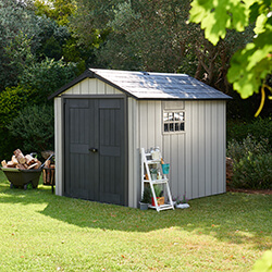 Extra image of Keter Oakland 759 Garden Shed in Brownish Grey