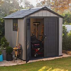 Small Image of Keter Oakland 759 Garden Shed in Brownish Grey