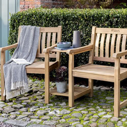 Small Image of Kettler RHS Chelsea Companion Set in FSC Acacia