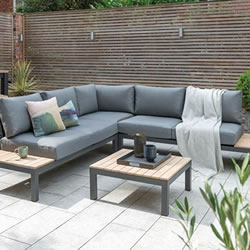 Sofa Back Wall Design, Contemporary Cast Metal Garden Furniture Available From The Garden4less Uk Shop In A Anthracite Teak Colour