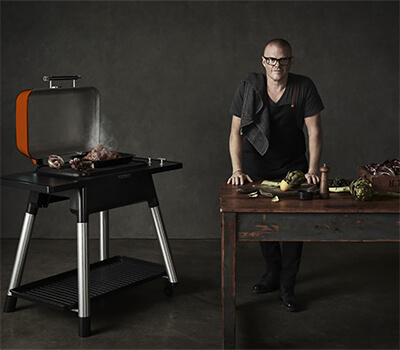 Image of Everdure Force Gas BBQ in Orange