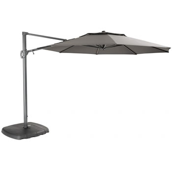 Image of Kettler 3.3m Free Arm Grey frame / Grey taupe Canopy (with LED lights and Wireless Speaker)