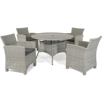 Image of Kettler Palma 4 Seater Dining Set in White Wash
