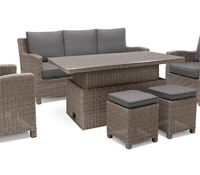 Image of Kettler Palma Sofa Set with Height Adjustable Table in Rattan