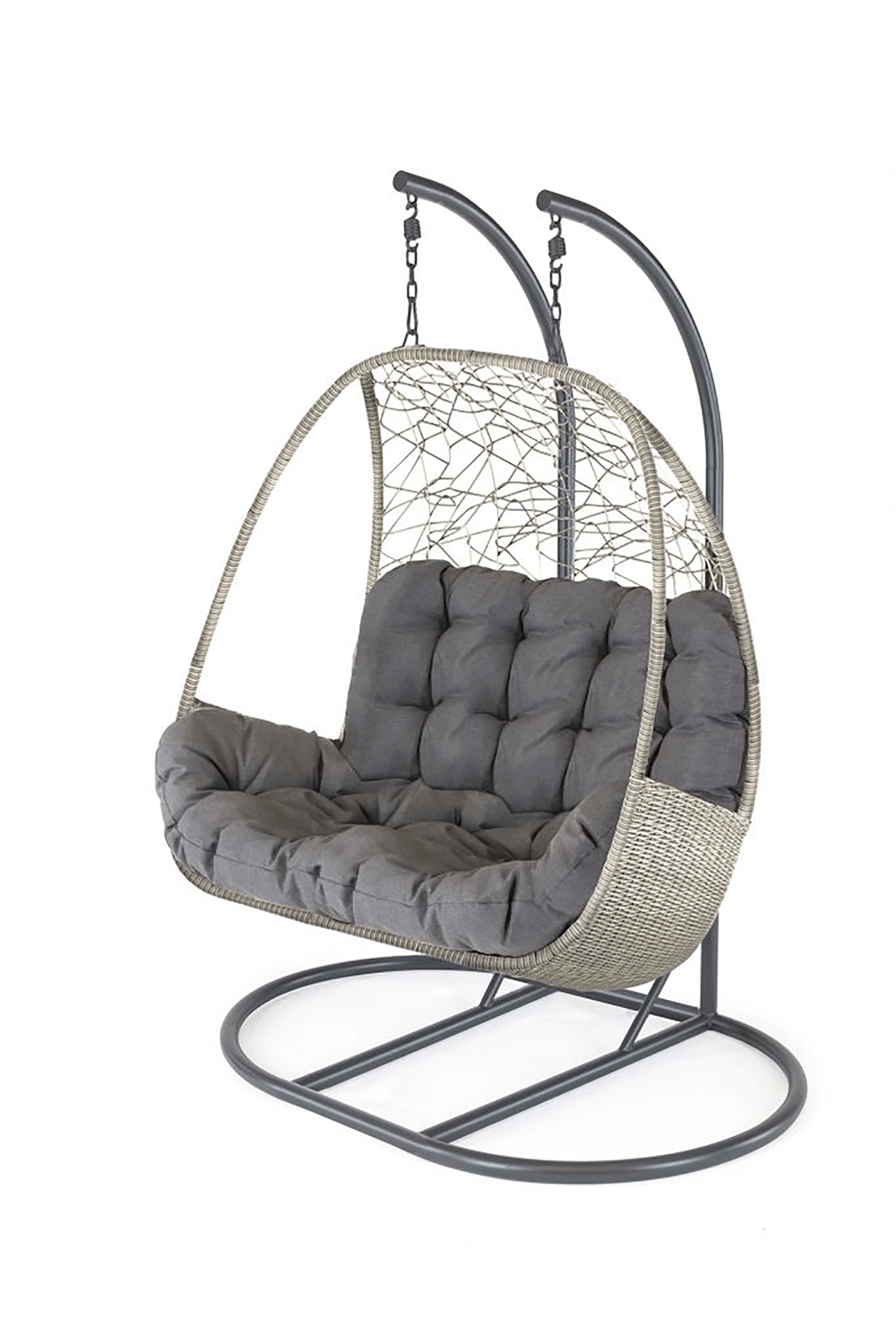 Double Hanging Egg Chair With Stand Uk, Outdoor Swing Chair With Stand Uk