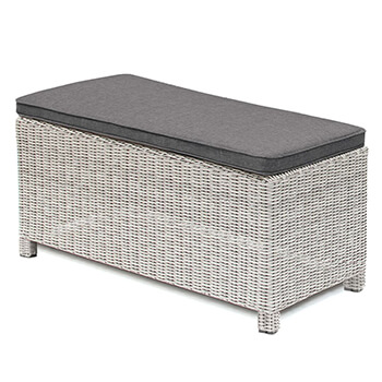 Image of Kettler Palma Long Bench - White Wash & Taupe