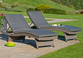Image of Kettler Palma Universal Weave Lounger - Rattan & Taupe