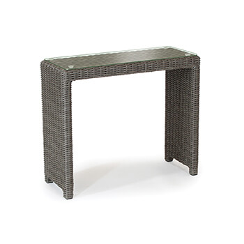 Image of Kettler Palma Glass Top Side Table in Rattan