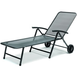 Extra image of Kettler Novero Sunlounger with Cushion in Stone