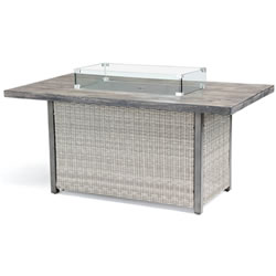 Extra image of Kettler Palma Fire Pit Table in White Wash