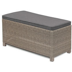 Extra image of Kettler Palma Long Bench - Rattan & Taupe