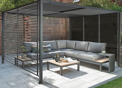 Extra image of Kettler Panalsol Deluxe 3 x 3.5m Aluminium (with LED Solar Lights)