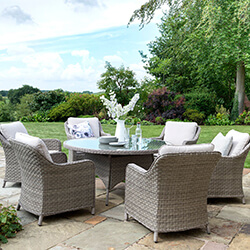 Small Image of Kettler Charlbury 6 Seat Round Dining Set