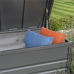 Small Image of Kettler Large Aluminium Storage Box in Grey