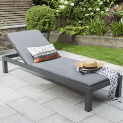 Small Image of Kettler Elba Lounger in Anthracite / Charcoal