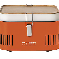 Extra image of Everdure Cube Portable Charcoal BBQ in Orange