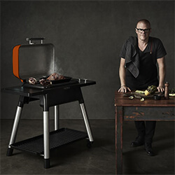 Small Image of Everdure Force Gas BBQ in Orange