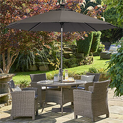 Small Image of Kettler Palma 4 Seater Dining Set in Rattan