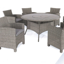 Small Image of Kettler Palma 6 Seater Dining Set with Lazy Susan in Rattan