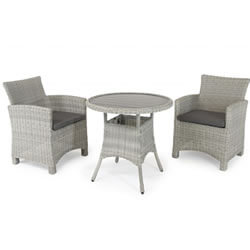 Small Image of Kettler Palma Bistro Set in White Wash