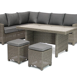 Extra image of Kettler Palma Right Hand Corner Sofa Set in Rattan with Glass Top Table