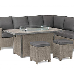 Extra image of Kettler Palma Left Hand Corner Sofa Set with Fire Pit Table, Rattan