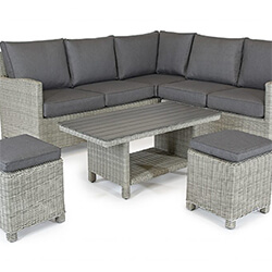 Extra image of Kettler Palma Mini Corner Sofa Set with Coffee Table, in White Wash