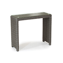 Small Image of Kettler Palma Glass Top Side Table in Rattan