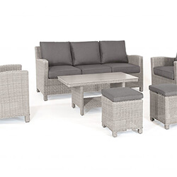 Small Image of Kettler Palma Sofa Set with Coffee Table in Whitewash