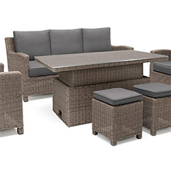 Small Image of Kettler Palma Sofa Set with Height Adjustable Table in Rattan