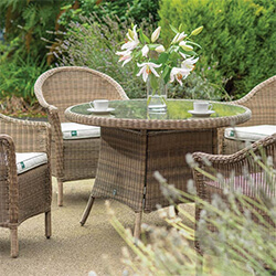 Small Image of Kettler RHS Harlow Carr 4 Seater Dining Set in Natural