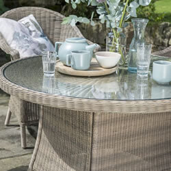 Extra image of Kettler RHS Harlow Carr 4 Seater Dining Set in Natural