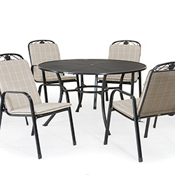 Small Image of Kettler Siena 6 Seat Dining Set - Stone
