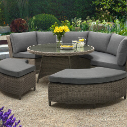 Extra image of Kettler Palma Round Set in Rattan / Taupe