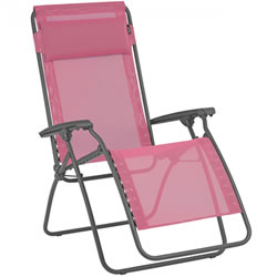 Small Image of Lafuma R Clip Recliner in Batyline Begonia Pink - LFM4020