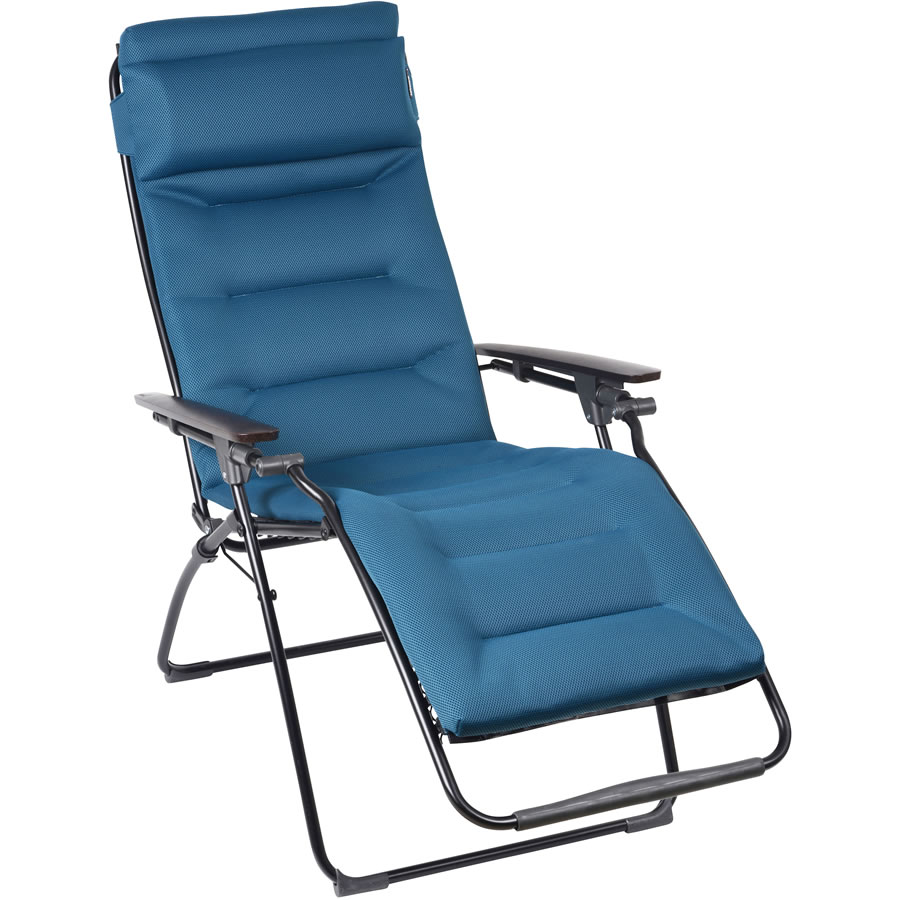 lafuma futura air comfort padded recliner coral blue lfm3124 185 garden4less uk shop. Black Bedroom Furniture Sets. Home Design Ideas