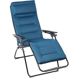 Small Image of Lafuma Futura Air Comfort Padded Recliner - Coral Blue - LFM3124
