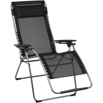 Image of Lafuma Futura XL Recliner in Batyline Black - LFM3115