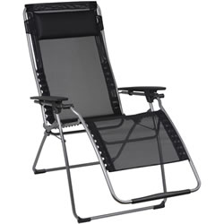 Small Image of Lafuma Futura XL Recliner in Batyline Black - LFM3115