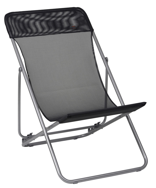 lafuma maxi transat in batyline black lfm2502. Black Bedroom Furniture Sets. Home Design Ideas