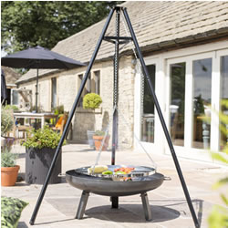 Extra image of La Hacienda Tripod with adjustable hanging grill