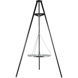 Small Image of La Hacienda Tripod with adjustable hanging grill