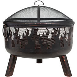 Extra image of La Hacienda Bronze Wildfire Firebowl with BBQ Grill