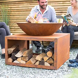 Small Image of La Hacienda Moho Oxidised Firepit