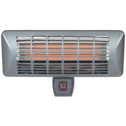 Extra image of La Hacienda Grey Series Wall Mounted Heater - Quartz element. IP24