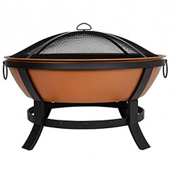 Extra image of La Hacienda Katori Large Deep Bowl Firepit in Terracotta