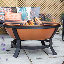 Small Image of La Hacienda Katori Large Deep Bowl Firepit in Terracotta